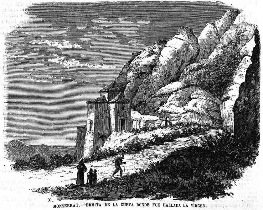 ermita de la cueva de montserrat donde fue hayada la Virgen cueva de montserrat